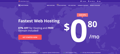 Hostinger International Web Hosting Screenshot
