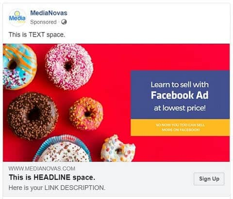facebook ad size - single image