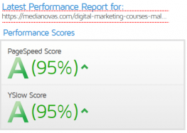 gtmetrix-reports-after-cache-with-vps-hosting