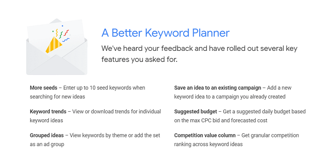 keyword planner new features